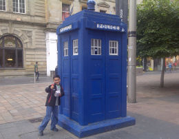 The Tardis in Buchanan street glasgow