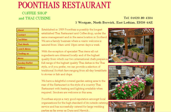 Poonthais website